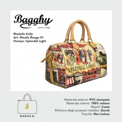 BORSA BAGGHY PICCOLAKELLYMOULIN ROUGE 01STAMPA SPLENDID LIGHT